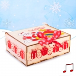 Шкатулка музыкальная Санки с подарками